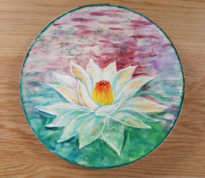 Beverly Hills Lotus Flower Plate