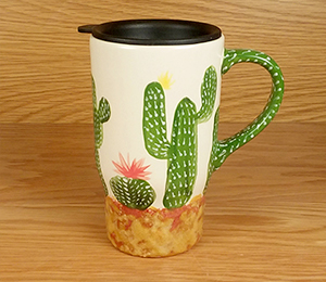 Beverly Hills Cactus Travel Mug