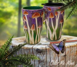 Beverly Hills Mushroom Mugs