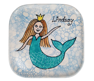 Beverly Hills Mermaid Plate