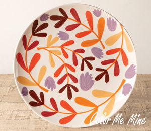 Beverly Hills Fall Floral Charger
