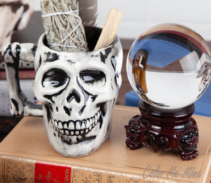 Beverly Hills Antiqued Skull Mug