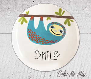 Beverly Hills Sloth Smile Plate
