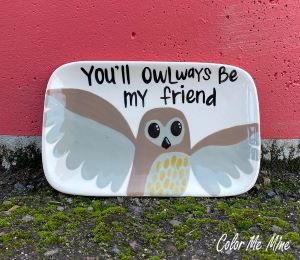 Beverly Hills Owl Plate