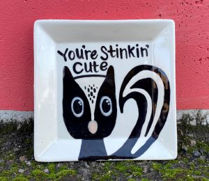 Beverly Hills Raccoon Plate