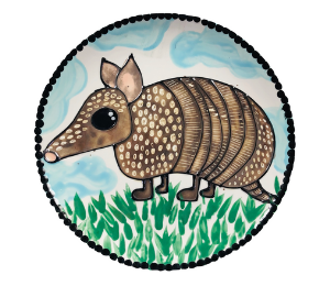 Beverly Hills Armadillo Plate