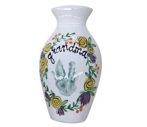 Beverly Hills Floral Handprint Vase