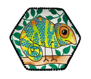 Beverly Hills Chameleon Plate